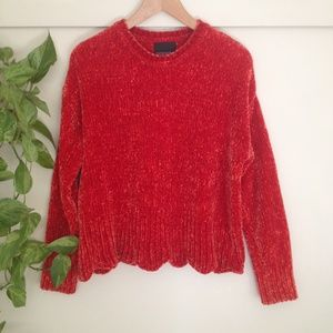 Cynthia Rowley Chenille Sweater -- size S